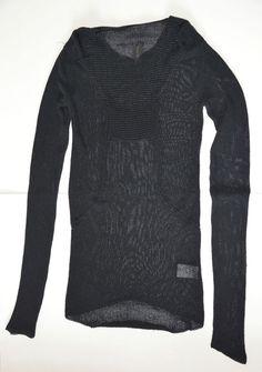 Rick Owens Anthem S/S 11 Semi-sheer Black Jumper Top Size XS