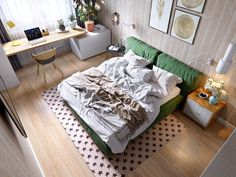 If we were to think of the elements that typically make up a contemporary Scandinavian home design, we most commonly would think of light pine furniture set wit Interior, Apartment Design, Home, Bedroom Design, Contemporary Home Decor, Modern Bedroom, Home Interior Design, Interior Design, Yellow Bedroom