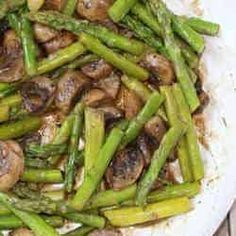 10. Garlic-Roasted Asparagus & Mushrooms - TOP 16 DASH Diet Recipes
