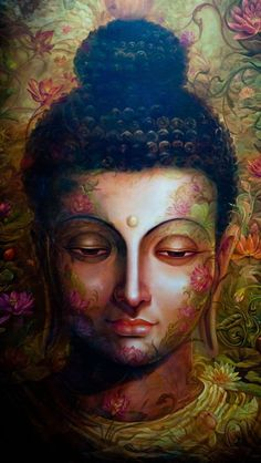 Metta for World Peace. here you are going to learn about buddhism the phislophy of life. Art Buddha, Buddha Artwork, Buddha Canvas, Buddha Face, Spiritual Paintings, Religious Paintings, Buda Painting, Buddhism Wallpaper, Lord Buddha Wallpapers