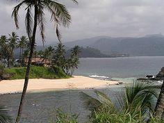 Beach scenery on São Tomé