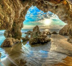 Malibu sea cave,  My new mission is to see this spot.