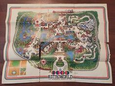 Astroworld 1969 Park Map and Hat