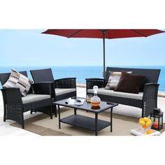 Mercury Row® Lindenberg Sun Lounger Set & Reviews | Wayfair Outdoor Furniture Sets, Wicker Decor, Furniture, Rattan Sofa, Outdoor Furniture, Wicker Furniture, Sofa Set, Outdoor Sofa, Outdoor Sofa Sets