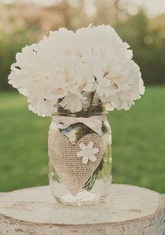 Rustic wedding mason jar