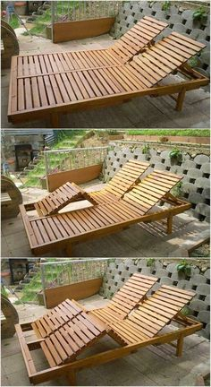 If your garden location is not featuring the wood pallet sun lounger in its account then probably your garden is imperfect place to settle. This double sun lounger is meant for the sitting arrangement for the two individuals. You can even go for the arran Wooden Pallet Crafts, Pallet Home Decor, Wooden Pallet Furniture, Diy Pallet Projects, Wood Pallets, Wood Projects, Pallet Wood, 1001 Pallets, Outdoor Furniture Plans