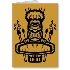 9213032011 Tiki (Rocker  Kustom) Greeting Card