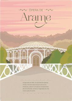 Série de ilustrações de alguns pontos históricos, culturais e turísticos de Curitiba.