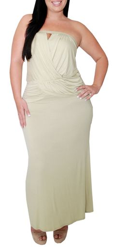 Accelerate (Plus/Beige)-Great Glam is the web's best sexy plus size online store clothing website for 1X 2X and 3X clothes for women and juniors.