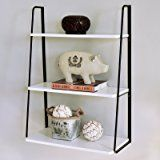 WELLAND 3-Tier Display Wall Shelf Storage Rack Wall Rack Holder Rack, White