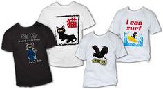 Cool Cat Shirts and Flying Bats Shirts by Batkei