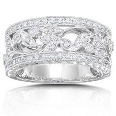 Wide Diamond Wedding Bands for Women