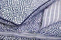 Reva Block Print Bedding Collection - Kalyana Textiles