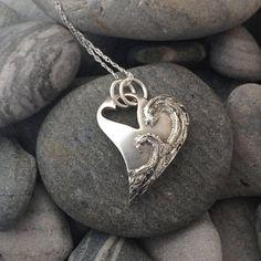 Handmade Large Waves Heart by Faye Benjamin