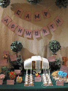 Unique!  Camping themed wedding :)