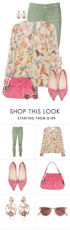 """""""Wing it in Spring."""" by an-nao ❤ liked on Polyvore featuring Joe's Jeans, RED Valentino, Sophia Webster, Fendi, Anabela Chan and Oliver Peoples"""