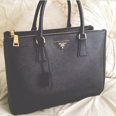 Prada saffiano double zip bag