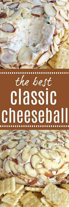 The best classic cheeseball recipe takes just minutes to make and it's creamy, smooth, and so delicious. Serve with your choice of crackers and you have a yummy appetizer for any gathering or party.