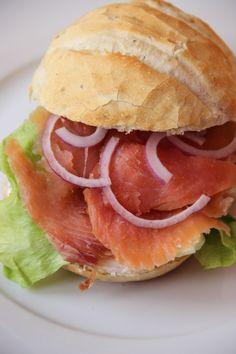Salmon sandwich - Broodje zalm