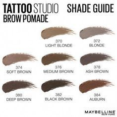 Tattoo Studio, Maybelline Tattoo, Ash Brown, Medium Brown, Brown Eyes, Natural Brows, Natural Redhead, Natural Makeup, Maquiagem