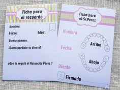 Portada y Fichas imprimibles modelo niña diario Ratoncito Perez Merbo Events