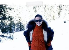 I need to be this cute when doing apres ski.