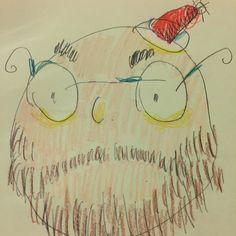 #weird #Googled #santa #christmas #pencil #dailydraw #santahat