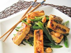 Kung Pao Tofu- though I might make this with asparagus, since green beans aren't my thing.