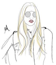 blond girl illustration