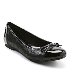 Look at this Black Beale Leather Flat on #zulily today!