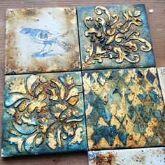 Ideas For Wall Art Vintage Mixed Media Mixed Media Painting, Mixed Media Art, Stencil Diy, Stencils, Antique Mailbox, Mixed Media Scrapbooking, Artsy Photos, Texture Photography, Tile Art