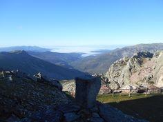 Peña de Francia. Vista desde el mirador entre la Estación Meteorológica y el Santuario.