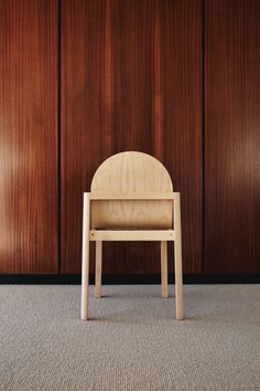 """Stine Aas designs stackable wooden chair Cleo """"reminiscent of classical architecture"""" Soft Chair, Classical Architecture, 2020 Design, Clever Design, Furniture Manufacturers, Chair Design, Home Furnishings, Dining Chairs, Dining Room"""