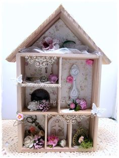 Altered house, made with products from Crafteezee collection and stash