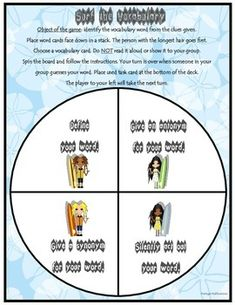 This is a great game to use with your Kagan groups as ALL students are actively engaged at ALL times! Use all year with any of your vocabulary lists.   Students will give synonyms, antonyms, definitions, and silently act out  their weekly words.  This is a perfect way to integrate social studies and science vocabulary terms to your reading block!
