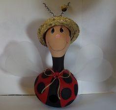 Ladybug Birdhouse Gourd
