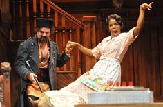 Rheba (Tyla Abercrumbie) and Boris Kolenkhov (Eric HIssom) in Asolo Rep's You Can't Take It With You. Photo by Barbara Banks