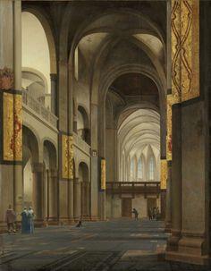 Pieter Saenredam ~ Het middenschip en koor van de Mariakerk in Utrecht ~ 1641 ~ Olieverf op hout ~ 121,5 x 95 cm. ~ Rijksmuseum, Amsterdam