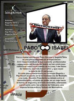 """Programa de mano para: """"Paco e Isabel"""" de Begoña Tena y Paco Zarzoso."""