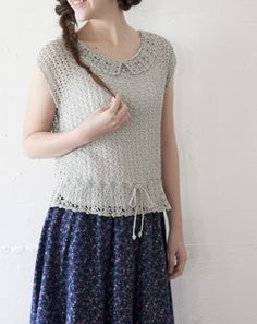 crochet blouse. Looks like it might extend easily for a dress.