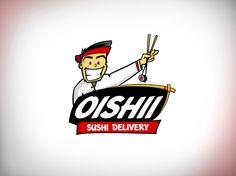 Logotipo e Gimmick desenvolvido para a empresa Oishii Sushii