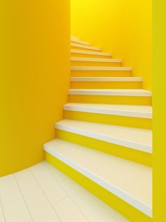Yellow Aesthetic Pastel, Aesthetic Colors, Aesthetic Grunge, Aesthetic Vintage, Stair Paneling, Photowall Ideas, Vinyl Panels, Yellow Walls, Yellow Stairs
