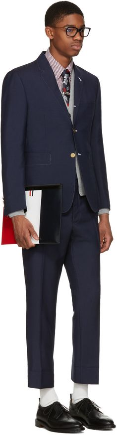 Thom Browne - Grey Hector Fair Isle Cardigan | Trends | Pinterest ...