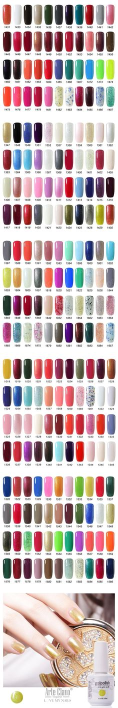 15ml Arte Clavo Choose Any 1 from  220 Colors Nail Art Gel Polish Soak Off UV Gel Nail Polish Lacquer UV Led Lamp