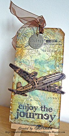 Travel tag - or great embellishment for a travel scrapbook journal or page!!!