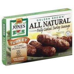 Jones Dairy Farm Golden Brown All Natural Fully Cooked Turkey Sauasage