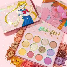 Makeup company ColourPop is launching a Sailor Moon make-up line, including a stunning eyeshadow palette, blushes, and more. Sailor Moon S, Sailor Moon Makeup, Sailor Moon Nails, Sailor Moon Costume, Make Up Palette, Colourpop Cosmetics, Makeup Cosmetics, Colourpop Eyeshadow Palette, Eyeshadows