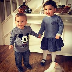 Navy & grey blue today  #emiliaandeduardo #brotherandsister #bffs. http://www.clarks.co.uk/kids