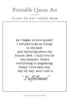 As i began to love my self Poem Print, Fulfillment #8 Quote, Life Poem, Poetry Poster, Inspiring Gif