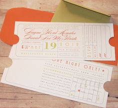 How fun! Vintage Ticket  Wedding Invitation by LetterBoxInk on Etsy, $4.50